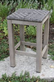 Counter Height Stool Teak U0026 Wicker Counter Height Outdoor Bar Stool Twin Pack