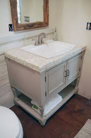 Raising Bathroom Vanity Height How To Raise A Short Bathroom Vanity For The Home Pinterest