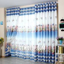 Navy Blue Curtains For Nursery Cheap Ombre White And Blue Printed Two Panels Nursery
