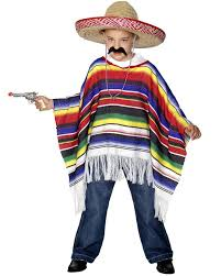 mexican poncho boys costume costumes