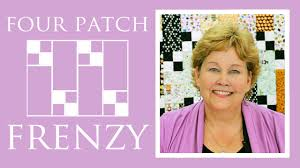 the four patch frenzy quilt easy quilting tutorial with jenny