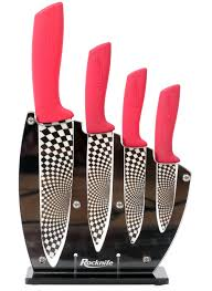 red ceramic kitchen knife set rocknife ceramic knives