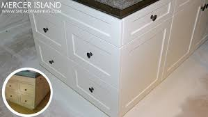 Painted Kitchen Cabinets Wood To Off White Enamel - Enamel kitchen cabinets