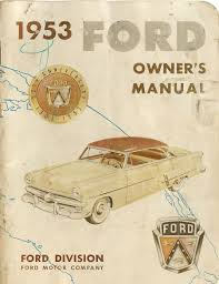 1953 ford owners manual