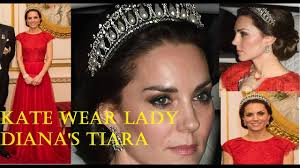 Dianas Stunning Kate Middleton Wear Lady Diana U0027s Tiara For The Annual
