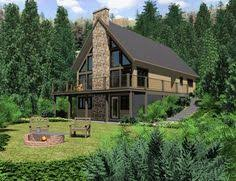 Aframe House Plans by A Frame House Plan 76407 Total Living Area 1301 Sq Ft 3