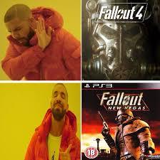Fallout New Vegas Memes - new vegas fallout 4 drakeposting know your meme