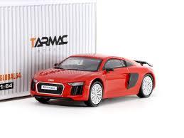 Audi R8 Silver - tarmac works global64 audi r8 v10 plus dynamite red silver multi