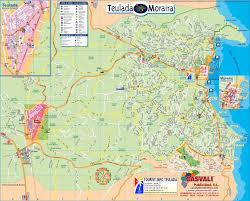 Plano Map Moraira Moraira Karte