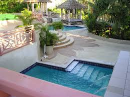 Decorating Small Backyards by Private Small Backyard Pool Idea With Staircase And Water Lining