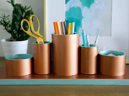 How To Make Desk Organizers by Tidy Up Your Office With This Chic Diy Desk Organizer Hgtv U0027s