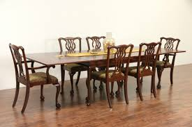Antique Mahogany Dining Room Furniture by Sold Kittinger Signed Vintage Mahogany Dining Table Pull Out