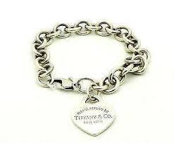 silver chain bracelet ebay images Tiffany heart bracelet ebay JPG