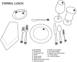 how to set a formal table how to set the table formal table setting formal lunch table