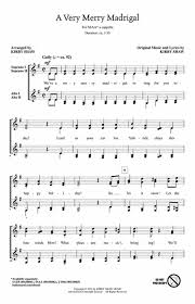 a merry madrigal free sheet notes preview