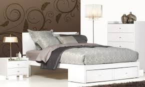 Queen Bedroom Suite Rimini White High Gloss Queen Size Bed Bedshed