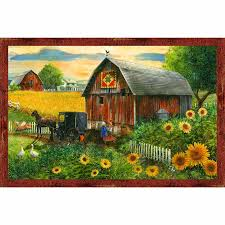 Tom Barn Heartland Home Barn Scenic Digitally Printed Panel Tom Wood