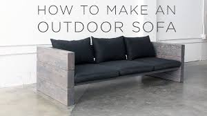 How To Build A Platform Bed With Pallets by How To Make An Outdoor Sofa Youtube