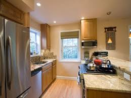 How To Remodel A Living Room Kitchen Cool Small Cherry Finished Kitchen Gallery With Marble