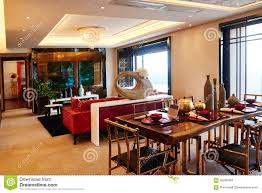 Modern Luxury Dining Table Modern Luxury Living Room Dining Room Editorial Stock Image