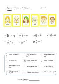 guess who equivalent and simplifying fractions worksheets by