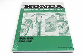 new service manual 92 96 cr250 cr250r oem honda shop repair