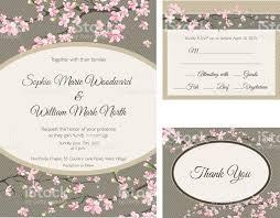 cherry blossom wedding invitations cherry blossom wedding invitation stock vector more images