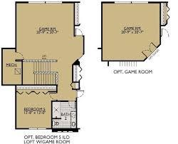Game Room Floor Plans The Jasmine Floor Plans William Ryan Homes