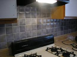 interior simple ceramic and glass backsplash tile pattern with