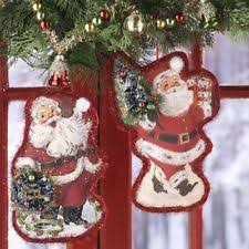 santa ornaments raz imports ebay