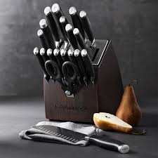 Self Sharpening Kitchen Knives by Calphalon Contemporary Self Sharpening 20 Piece Block Set With