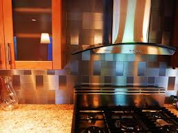 stainless steel backsplash kitchen decor of stainless steel
