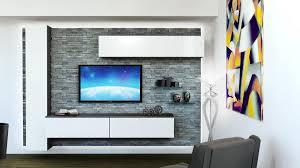 Wohnzimmerm El Mit Led Möbel Für Wohnzimmer Mit Rock Verkleidung Weiß Lackiert
