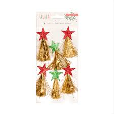 christmas tinsel crate paper falala tinsel tassels with glitter accents
