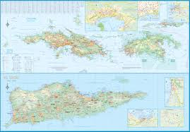 Map Of Virgin Islands Maps For Travel City Maps Road Maps Guides Globes Topographic