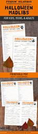 Halloween Mad Libs Printable Free by Printable Scary Halloween Mad Lib For Adults Teens U0026 Kids Ghost