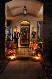 100 decorating front door for halloween decoration