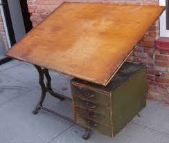 Industrial Drafting Table Glancing Drafting Table Desk Plus Hand Made Large Walnut
