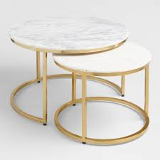 Ex Display Home Furniture For Sale Gold Coast Marble Ayva Nesting Coffee Tables Set Of 2 World Market