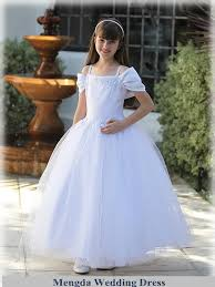 dresses for communion gown white kids communion dress satin organza spaghetti