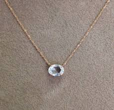 silver gold diamond necklace images 18k rose cut oval shaped diamond pendant 20 quot rose gold chain jpg