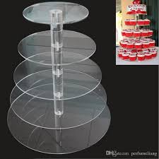 5 tier cake stand clear acrylic 5 tier cupcake dessert display for birthday