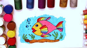 coloring pages fish for kids how to draw fish step by step how to