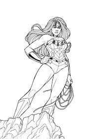 coloring excellent wonder woman coloring pages gingerbread