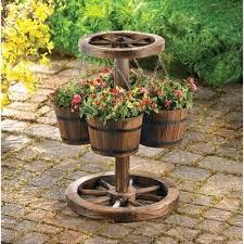 awesome rustic garden decor ideas rustic wagon wheel garden