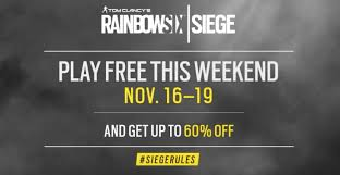 siege free rainbow six siege free weekend dates for ps4 xbox one and pc