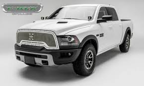 custom jeep white t rex ram rebel x metal series main grille replacement
