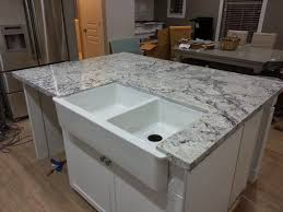 granite countertop kitchen island with stove and oven wall mount