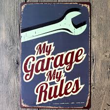 home decor wall art stickers aliexpress com buy my garage rules cool home decoration wall