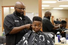 hundreds of kids get free back to haircuts at tulsa tech
